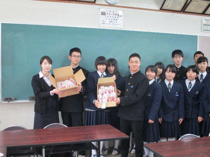 【受験生応援ねじ】綾部中学校でサプライズ!?